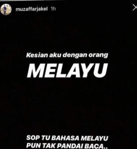 status muzafar jakel diinstagram