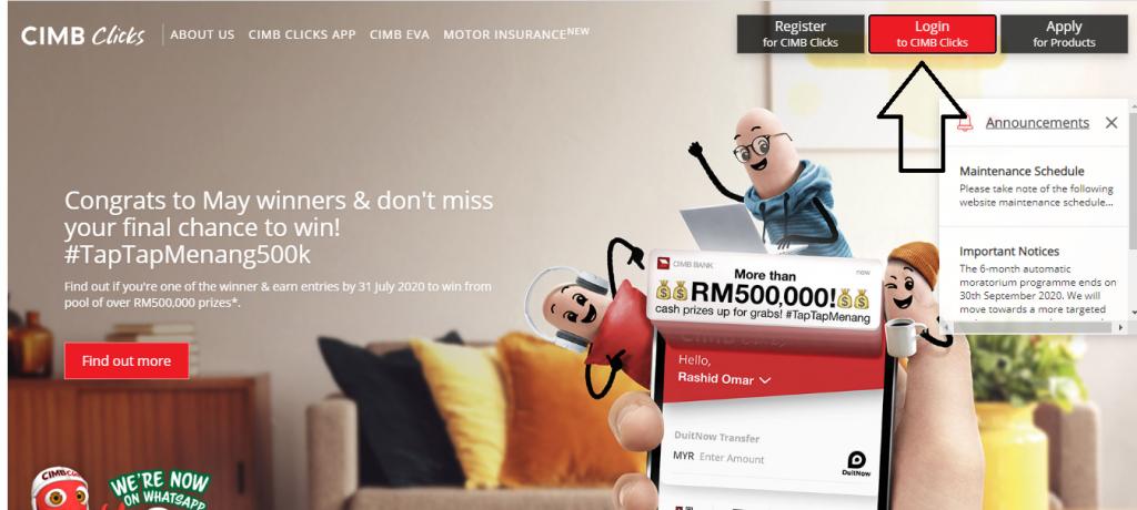 cara bayar loan cimb part1