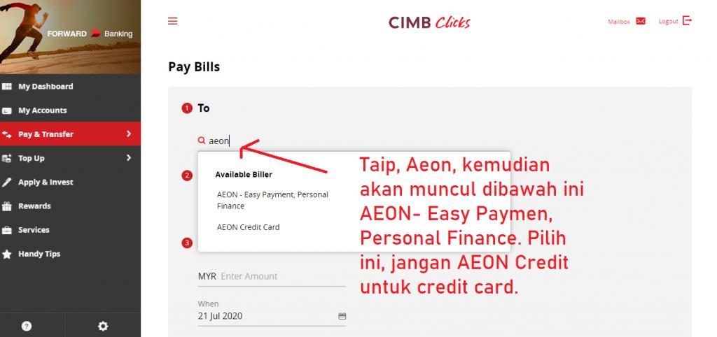 cara bayar aeon loan part3